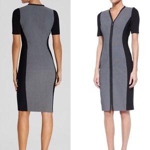 Elie Tahari Mila Dress- Color Block Sheath SZ 16